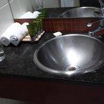 Basin in the bathroom