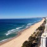 Views across Surfers
