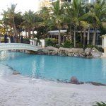 Great outdoor pool/beach area, bit cold in winter