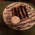 homemade chocolate/peanut butter cake