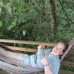Enjoying the hammocks on site!