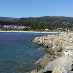 The weekend we stayed,  July 4th, our RV is parked with an Ocean view next to the hotel with an