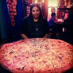Had to get a pic next to this insane pizza!!!!