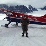 landing on the Glacier (note short sleeve was fine)