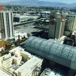 View of Fremont Street from room 24209