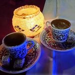 Delicious turkish coffe with turkish delights