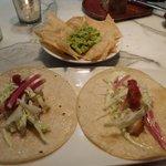 Fish tortilla and so good guacamole