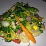 Vegetarian entree- an extraordinary dish.