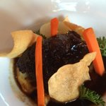 Braised ribs entree- tender, melt in your mouth.