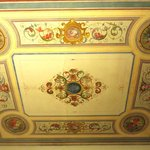 Restored fresco ceiling. Yes, it's real!