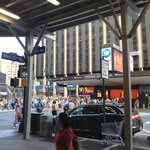 View from front entrance of Madison Square Garden