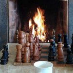 Chess by the fire