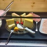 Sample the cheeses of the region at breakfast.
