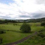 "Blick übern den Golfplatz Richtung ""Loch of Lowes"""