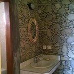 Vanity area ouside bathroom