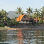 Cleopatra bungalows from the sea.
