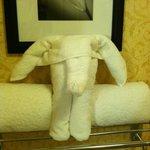 Folded Elephant Towel