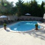 La piscine sécurisée pour les enfants.