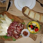 The giant meat and cheese board from Uje Oil Bar