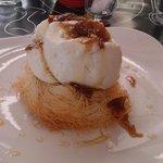 Kantaifi nest filled with kaimaki ice cream