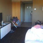 Veiw of room standing infront of window