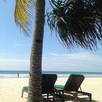 nice private beach