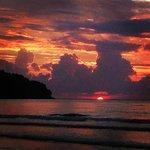 sunset at karambunai