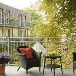 Balkon aus der Rose Garden Suite