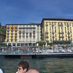 View of hotel from boat