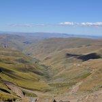 Utsikt från Sani Pass. Apr. 2014