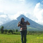 My pic with the Perfect Cone Volcano - Mayon