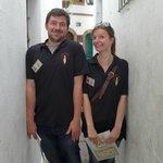 nos deux jeunes guides historiens français