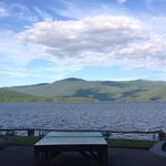 View of Lake from the parking lot.. Absolutely gorgeous!!!