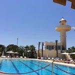 pool and minarette