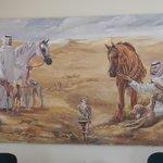 Arabs, horses, Salukis, and falcons