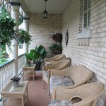 Guests enjoy sitting on the front porch.