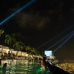 night at the infinity pool