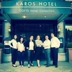 Entrance presented by the KAROS team