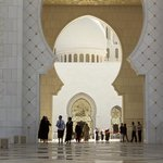 Sheikh Zayed Grand Mosque. Entrance
