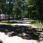 view of the road to our camper