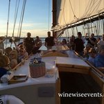 Having a great time on the White Burgundy and Fresh Shucked Oysters Sail!