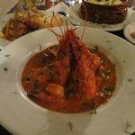 Prawn/shrimp saganaki
