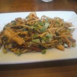 Szechuan Blackened Chile Noodle $9 lunch portion