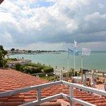 vue du balcon vers le port