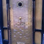 Front door, very cloak and dagger!