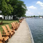 Lakefront chairs. Grab a drink and sit here!