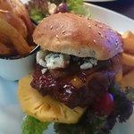 Springbok and Blue Cheese Burger