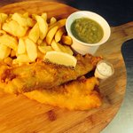 The extra large fish chips and peas :)