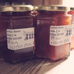 Jams made with fruit from the Garden