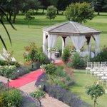 The gazebo where the wedding took place